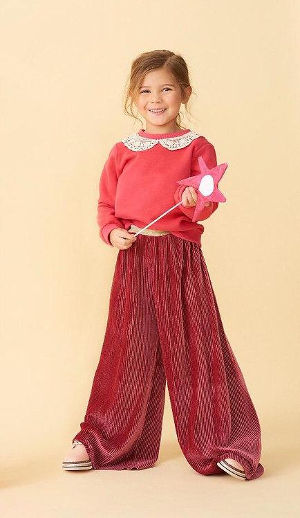 Set Of Clover Sweatshirt & Begonia Pleated Pant