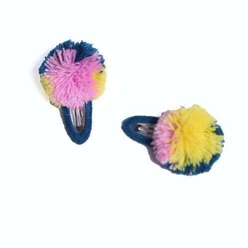 Fringe Pompom Hairclip