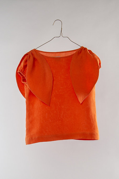 Bow Blouse- Orange