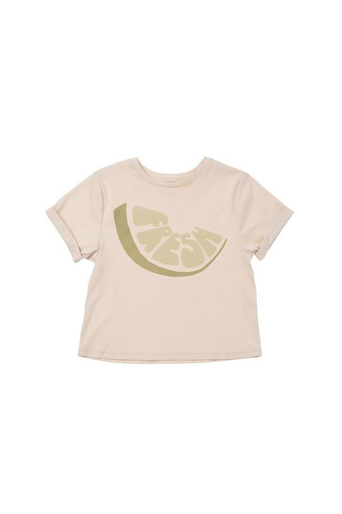 "Boys Boxy T-Shirt W/ Frontal ""Fresh"" Print"
