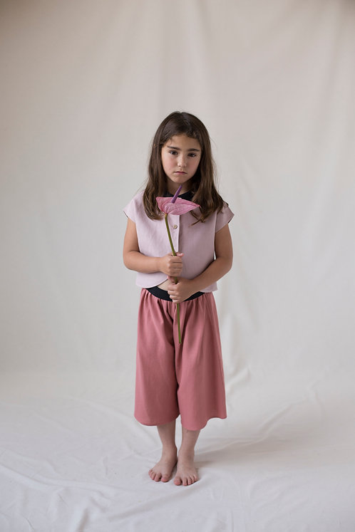 Red Clay Colored Culotte Trousers