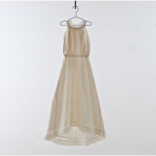 Halter dress with trim lace