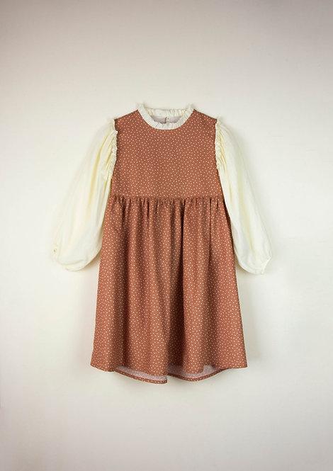 Long-Sleeved Polka Dot Dress