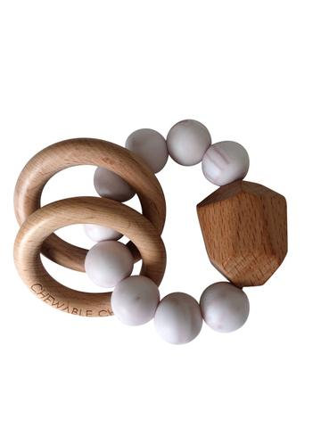 Hayes Silicon + Wood Teether Toy