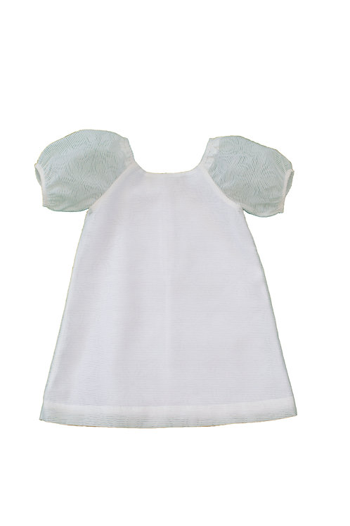 White Puff Girls Dress