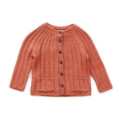 Set Of Ribbed Cardi & Clementine Skirt