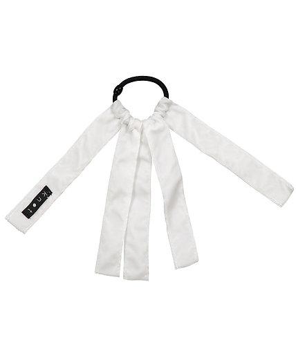 Barre Ribbon Hair Tie -White