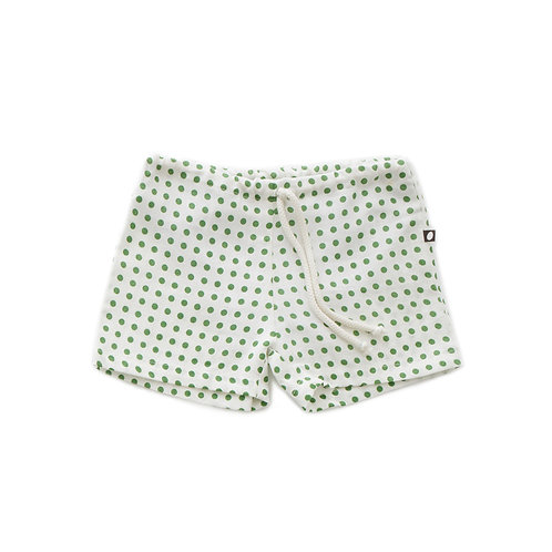 Linen Swim Shorts Green