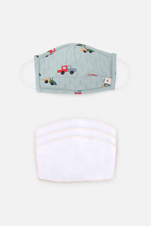 3-5 Years Cars Face Mask With Filters