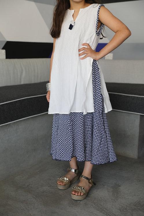 White Greece Dress- Double Layer