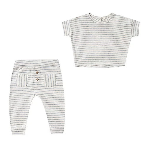 Set Of Sea Stripe Boxy Tee & Pant
