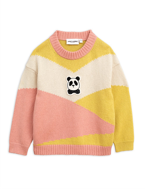 Panda Knitted Wool Pullover