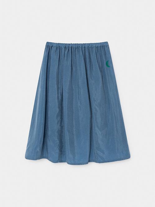 Green Moon Cupro Midi Skirt