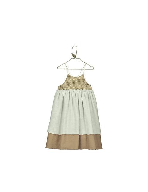 Raffia Contrast Dress