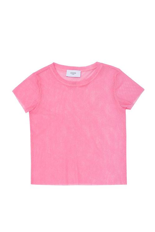 Cotton Tulle Tee Ora Pink