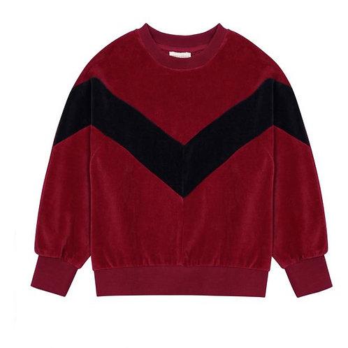 Set Of Velour Sweatshirt & Jogging Bottoms