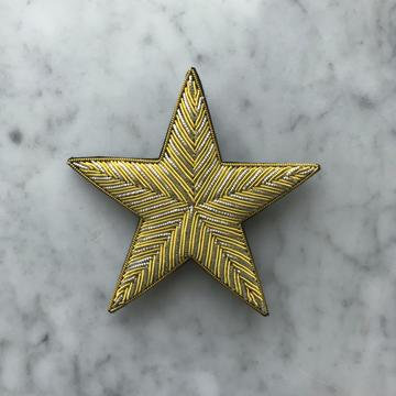 Two Golden Lines Brooch