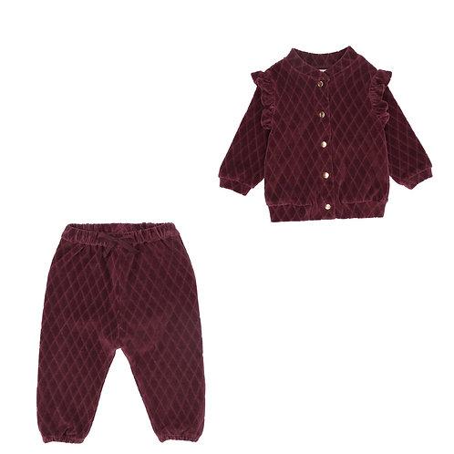 Evita Cardigan & Khya Pants Set