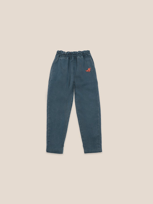 Bird Embroidery Woven pants