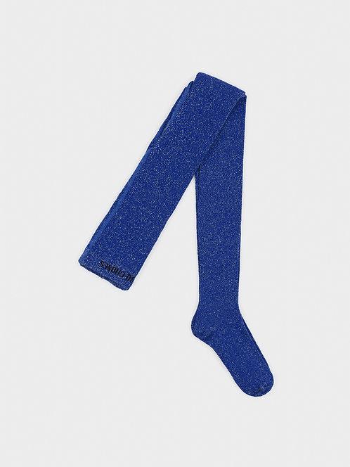 Blue Lurex Tights