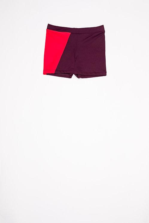Swim Trunks Burgundy & Red