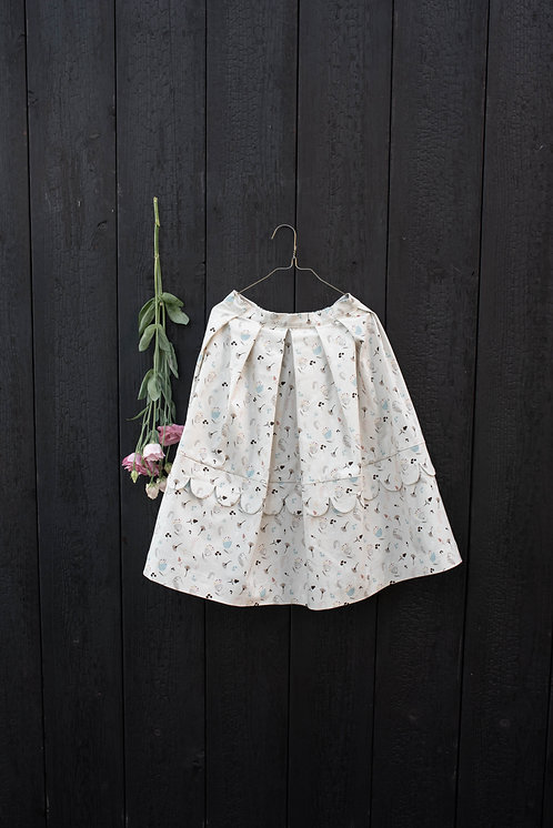 Loretta Dress- Flowers Cream