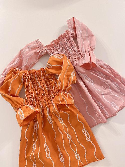 Knots Orange dress