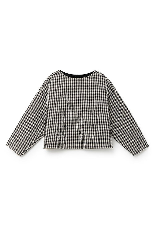 Quilted Checked Jersey