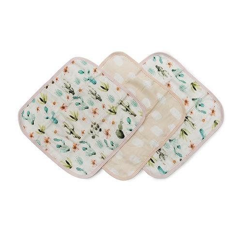 Washcloth 3-pieces Set- Cactus Floral