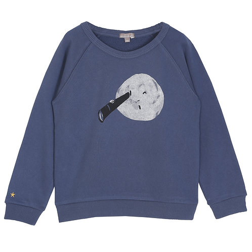 Night Blue Moon Sweatshirt