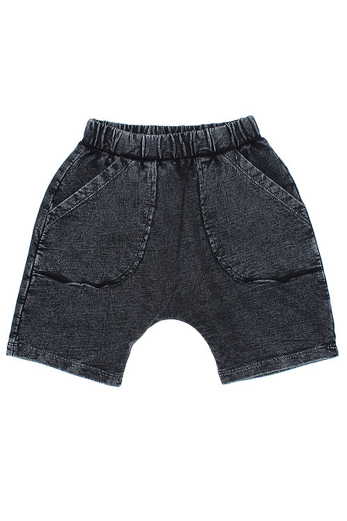 Neal- Vintage Washed Black Shorts