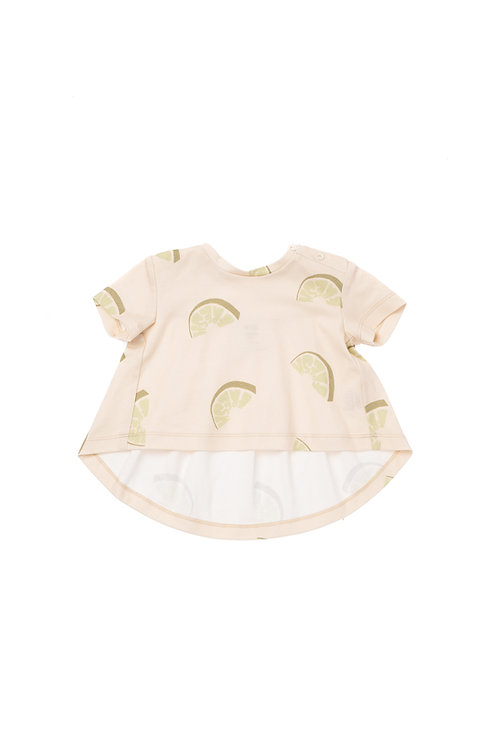 Set Of Baby Ruffled Back T-shirt & Gauze Bloomers