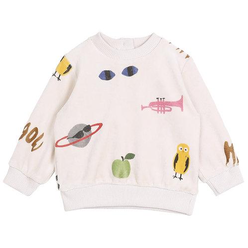 Ecru Printed Sweatshirt