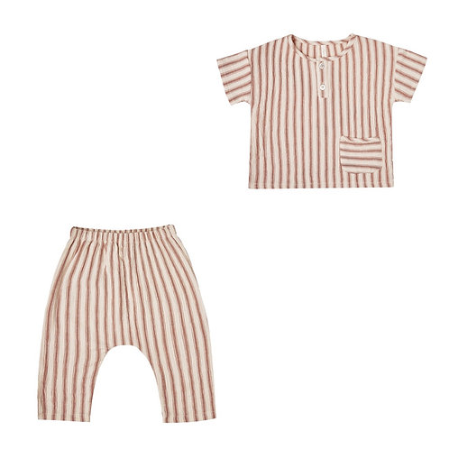 Striped Woven Henly Tee & Harem Pant