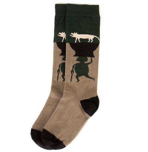Socks Animals Green