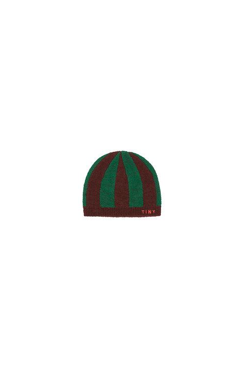 Stripes Beanie- Aubergine/Green