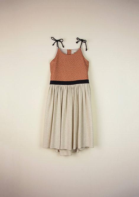 Beige Dress with Straps