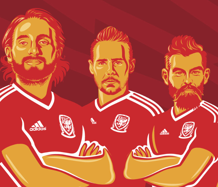 Wales World Cup 2018 Qualifying Campaign Artwork