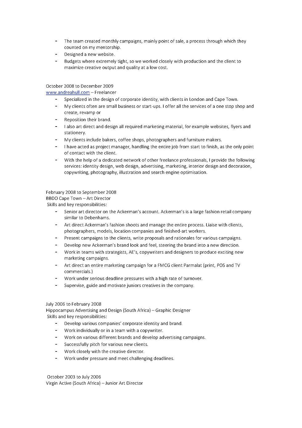 freelance graphic designer description design resume