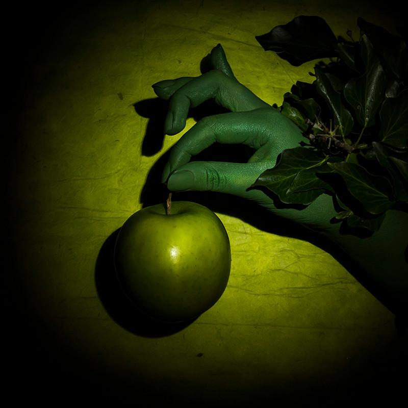 Green Apple, Green Hand, Ivy, on Green