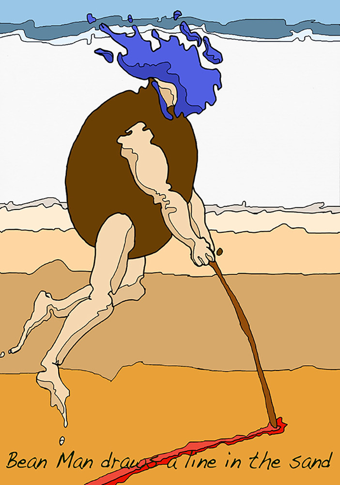 Bean Man Draws A Line In The Sand