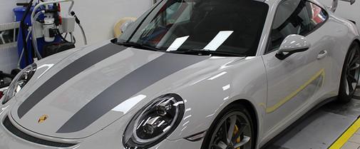 Porsche GT3 Grey Stripes