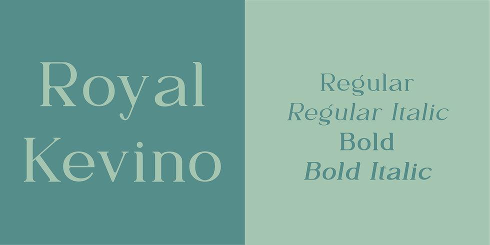 Royal Kevino Font Sample