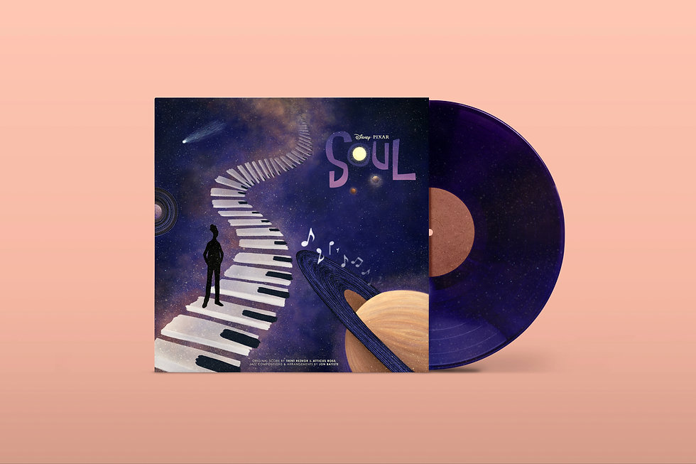 Disney & Pixar's Soul Album Cover Art Mockup