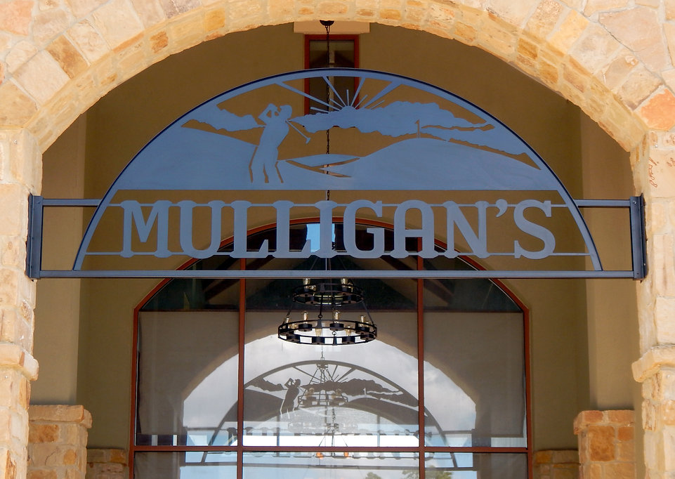 Mulligan's Wrought Iron Exterior Sign