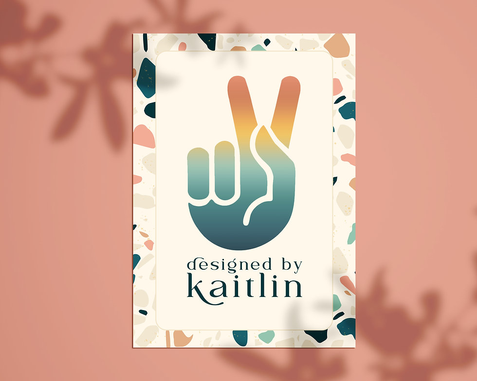 Designed by Kaitlin Logo Mockup