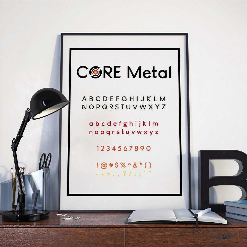 CORE Custom Metal Works Personalized Company Font, Core Metal