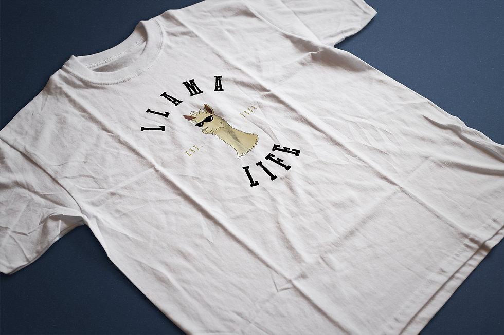 Close-Up of Llama Life T-Shirt