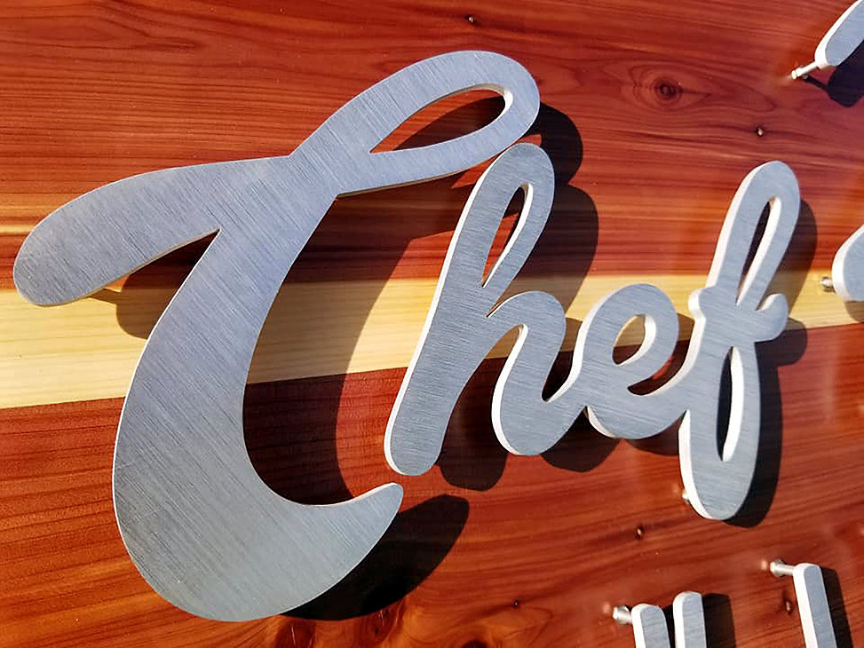 Close up of Chef Rufino's Kitchen sign