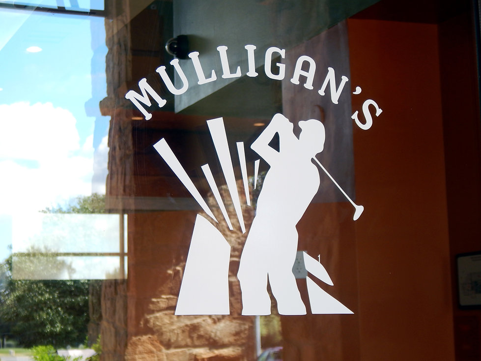 Mulligan's Door Decal